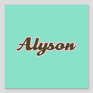 """Alyson Aqua Square Car Magnet 3"""" x 3"""""""