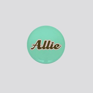 Allie Aqua Mini Button