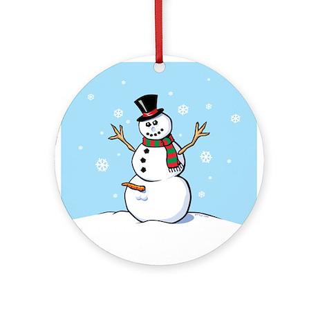 Naughty Snowman Ornament (Round)