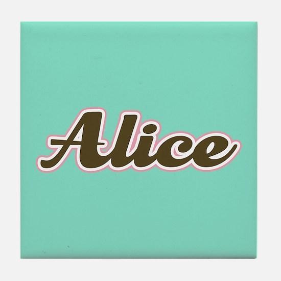 Alice Aqua Tile Coaster