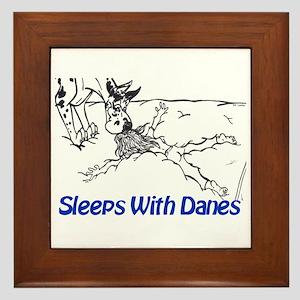 Sleeps With Danes Framed Tile