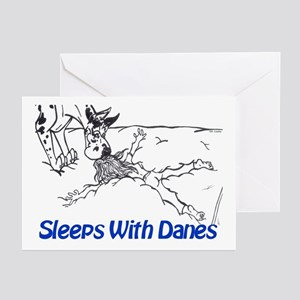 Sleeps With Danes Greeting Cards (Pk of 10)