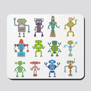 Robots by Phil Atherton Mousepad