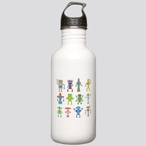 Robots by Phil Atherton Water Bottle
