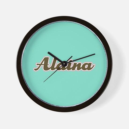 Alaina Aqua Wall Clock