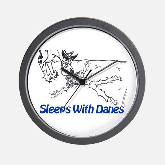 Sleeps With Danes Wall Clock