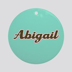 Abigail Aqua Ornament (Round)