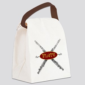 Flute Tribal Canvas Lunch Bag