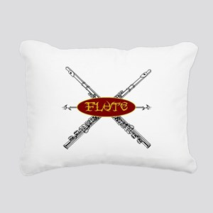 Flute Tribal Rectangular Canvas Pillow