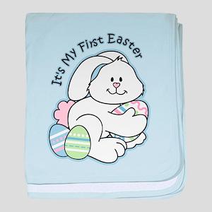 Bunny 1st Easter baby blanket