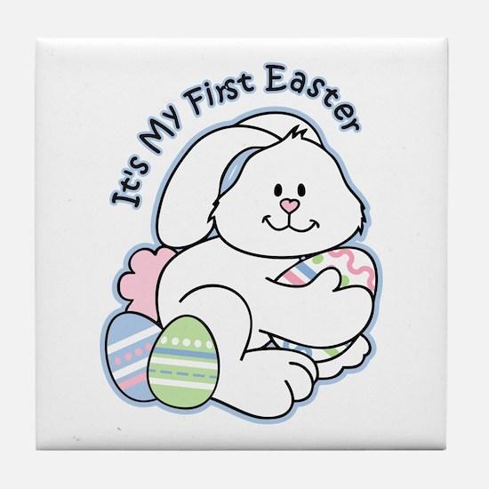 Bunny 1st Easter Tile Coaster