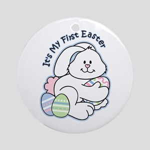 Bunny 1st Easter Ornament (Round)