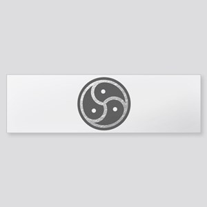 Silver Look BDSM Emblem Sticker (Bumper)