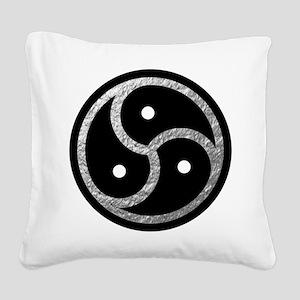 Silver Look BDSM Emblem Square Canvas Pillow