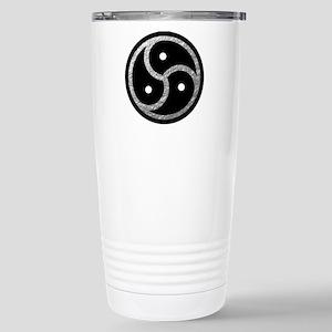 Silver Look BDSM Emblem Stainless Steel Travel Mug