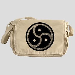 Silver Look BDSM Emblem Messenger Bag