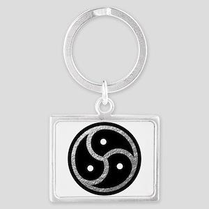Silver Look BDSM Emblem Landscape Keychain