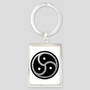 Silver Look BDSM Emblem Portrait Keychain