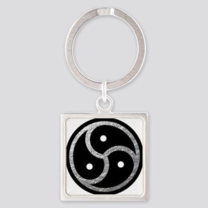 Silver Look BDSM Emblem Square Keychain