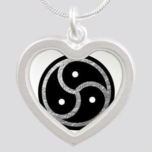 Silver Look BDSM Emblem Silver Heart Necklace