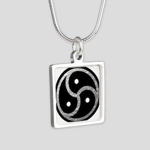 Silver Look BDSM Emblem Silver Square Necklace