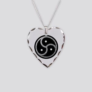 Silver Look BDSM Emblem Necklace Heart Charm