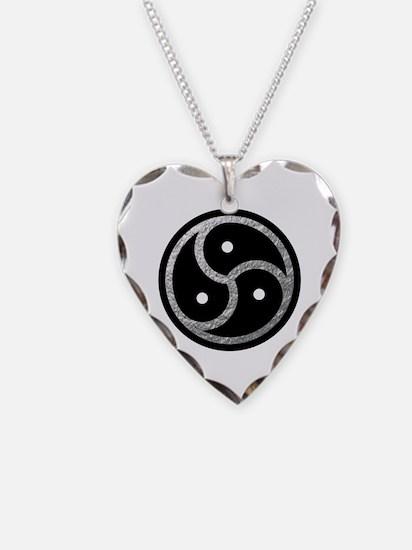Silver Look BDSM Emblem Necklace