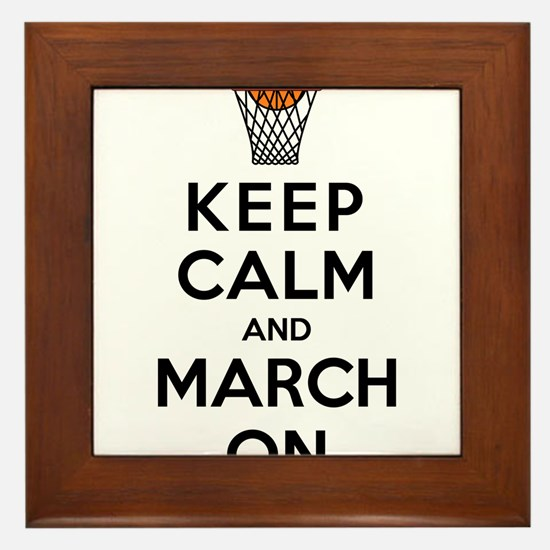 Keep Calm and March On Framed Tile