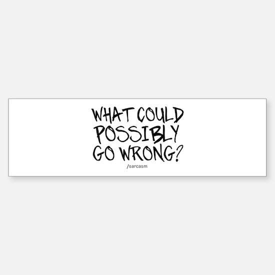 '/Sarcasm' Sticker (Bumper)