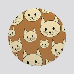 Cats. Neutral Colors. Ornament (Round)
