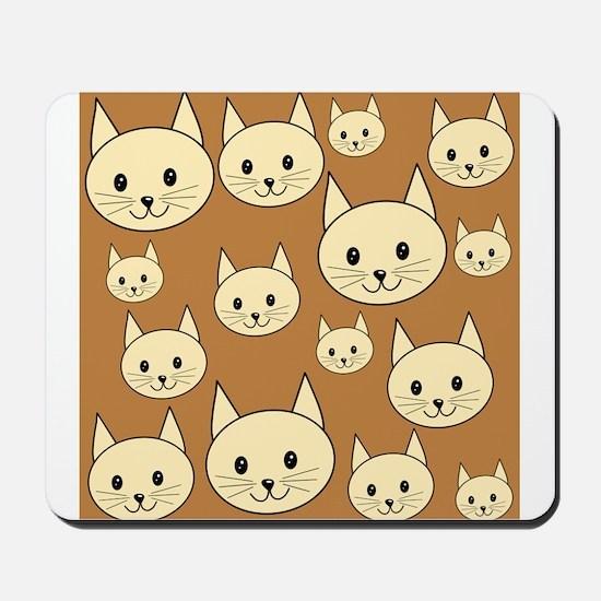 Cats. Neutral Colors. Mousepad