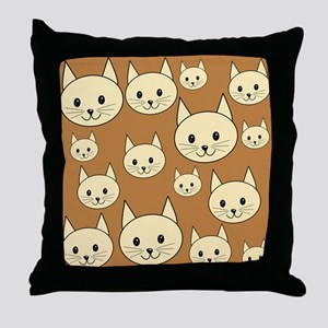 Cats. Neutral Colors. Throw Pillow