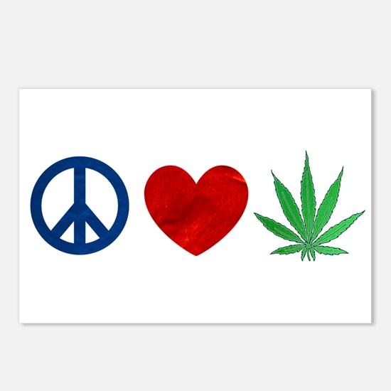 Peace Love Weed Postcards (Package of 8)