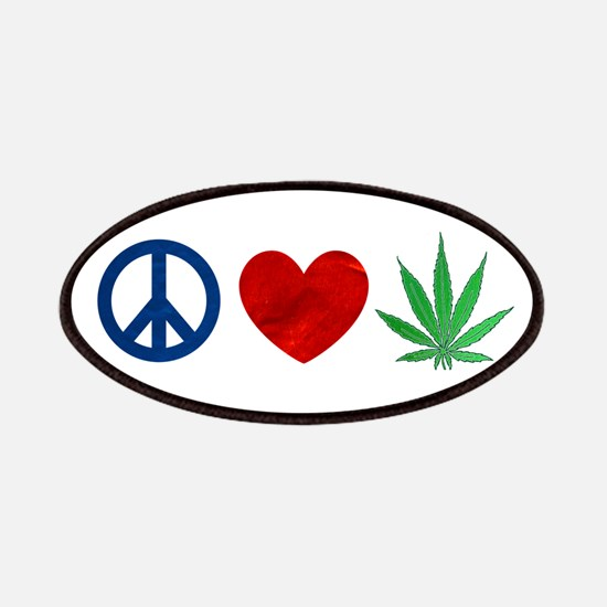 Peace Love Weed Patches