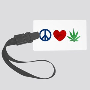 Peace Love Weed Luggage Tag