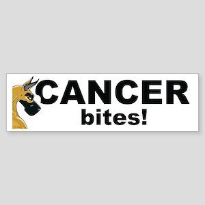 C Fawn Cancer Bites Bumper Sticker