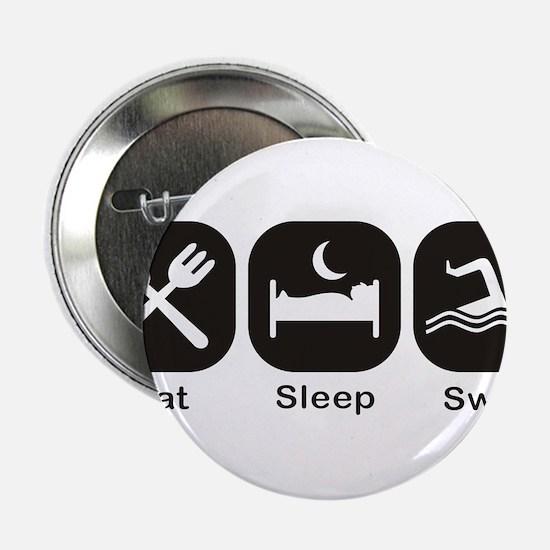 "Eat, Sleep, Swim 2.25"" Button"