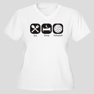Eat, Sleep, Volleyball Plus Size T-Shirt