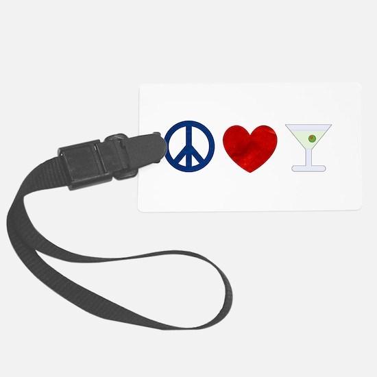 Peace Love Martini Luggage Tag