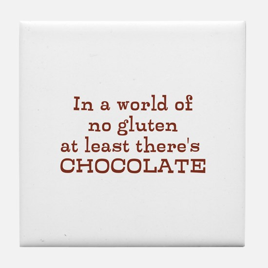 World of no gluten Tile Coaster