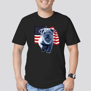 Shar-Pei Men's Fitted T-Shirt (dark)