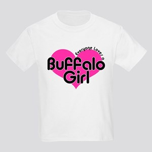 Everyone Loves a Buffalo Girl Kids T-Shirt