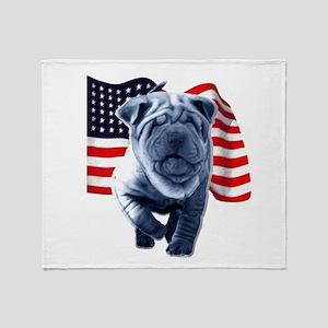 Shar-Pei Throw Blanket