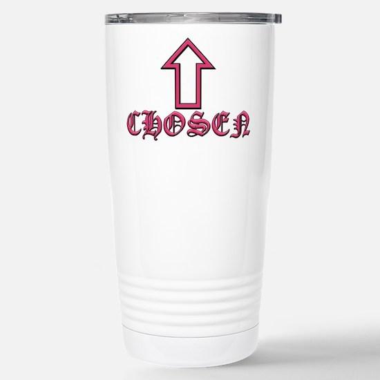 Chosen Pink Stainless Steel Travel Mug