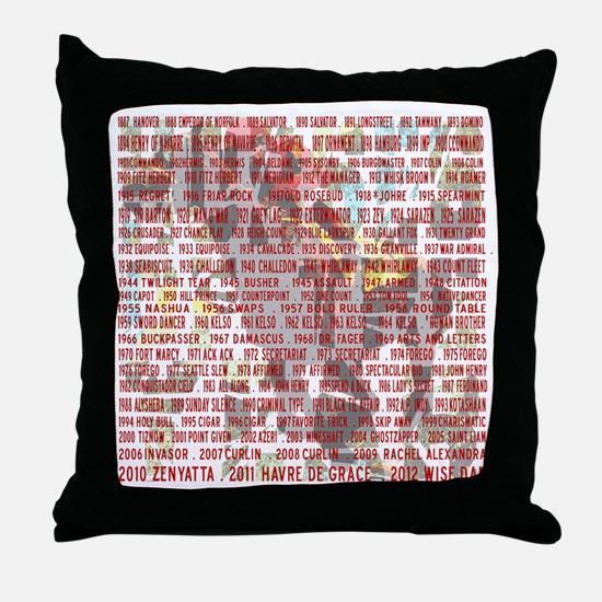 Horses of the Year 1887-2012 II Throw Pillow