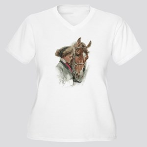 Vintage Girl And Horse Plus Size T-Shirt