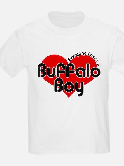 Everyone Loves a Buffalo Boy Kids T-Shirt