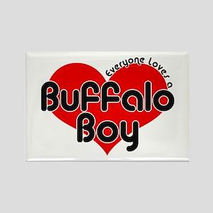 Everyone Loves a Buffalo Boy Rectangle Magnet