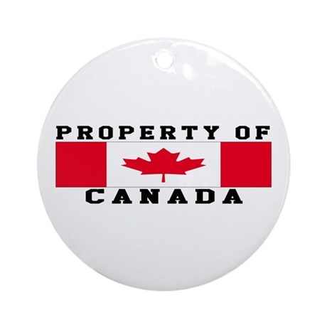 Property Of Canada Ornament (Round)