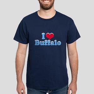 I Love Buffalo (with snow) Dark T-Shirt